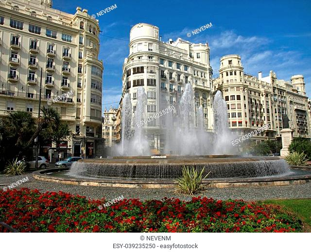 Valencia, Spain. Old architecture - famous city hall