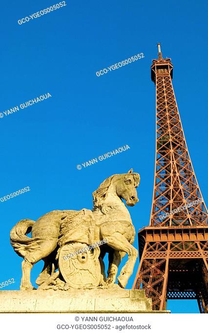 THE EIFFEL TOWER FROM IENA BRIDGE - PARIS - FRANCE