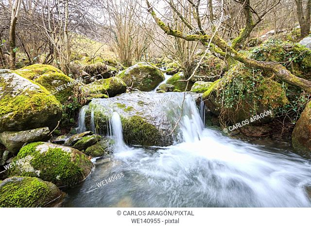 Waterfalls in Ason, Cantabria, Spain River