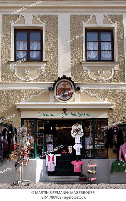 Wachauer Geschenkstube gift shop, Duernstein, Wachau, Waldviertel, Lower Austria, Austria, Europe