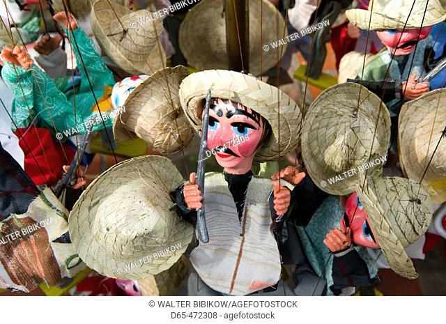 El Pueblo de Los Angeles. Historic Mexican Area. Olvera Street Market. Mexican puppets. Downtown. Los Angeles. California. USA