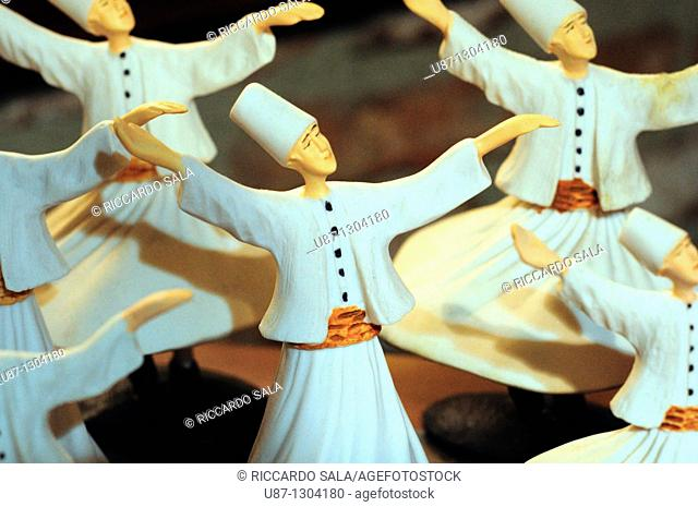 Turkey, Istanbul, Shop Display, Whirling Dervish Souvenirs