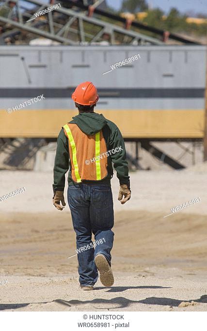 Engineer walking