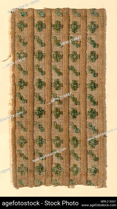 Fragment - 1750/1800 - France or Italy - Origin: France, Date: 1750-1800, Medium: Silk, linen, and cotton, plain weave with supplementary pile warps forming cut...