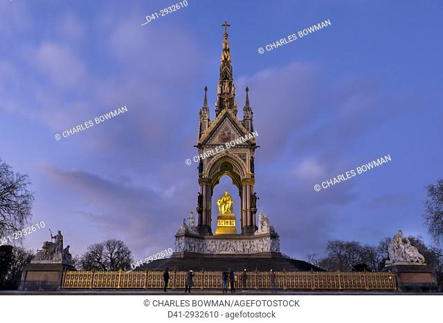 UK, england, London, Albert Memorial dusk
