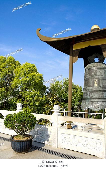 Asia,China,Zhejiang Province,Putuoshan,Purple Bamboo Forest Scenic Area,Bell Tower