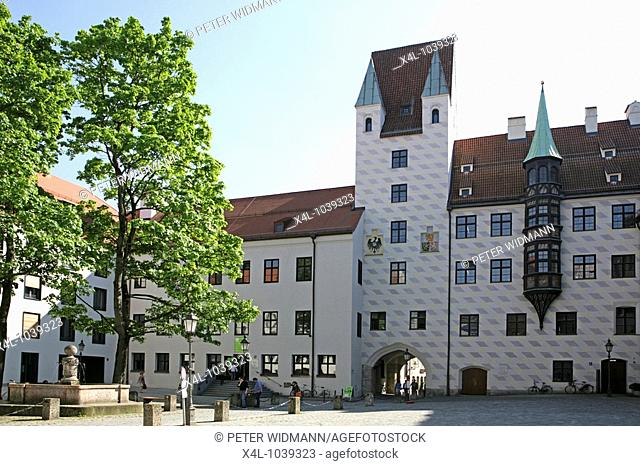 Alter Hof Medieval Castle and royal residence Munich Bavaria Germany