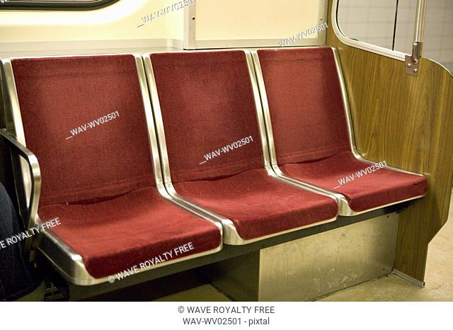 Interior of subway car, Toronto Transit , Canada, Ontario, Toronto