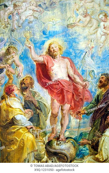 Detail: The Glorification of the Eucharist, probably ca 1630, by Peter Paul Rubens, Flemish, Oil on wood, 28 x 19 in 71 1 x 48 3 cm, Metropolitan Museum of Art