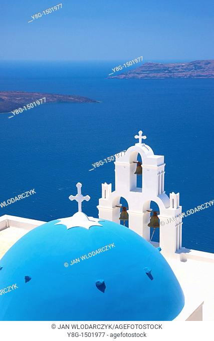 Agios Minas Church in Firostefani, Santorini Island, Cyclades, Greece