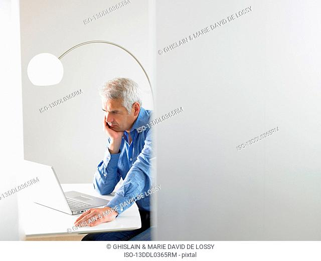 Man working on his computer