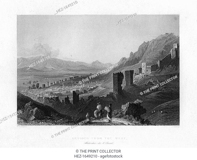 Antioch, Turkey, 1841. As seen from the west. From Syria, the Holy land and Asia Minor, volume I, by John Carne, published by Fisher, Son & Co