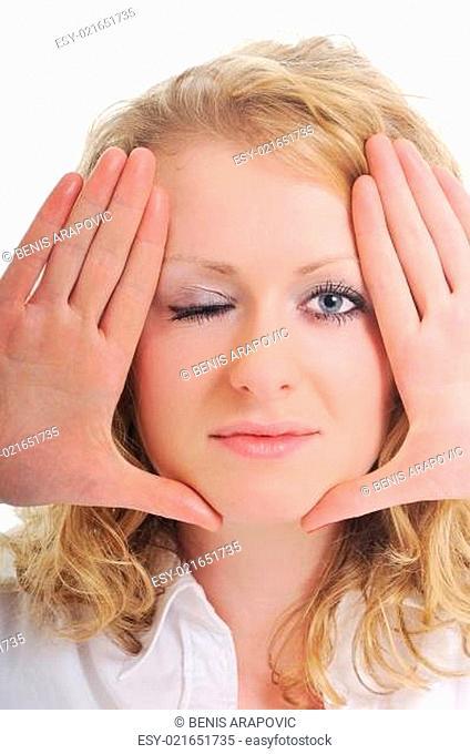woman face frame