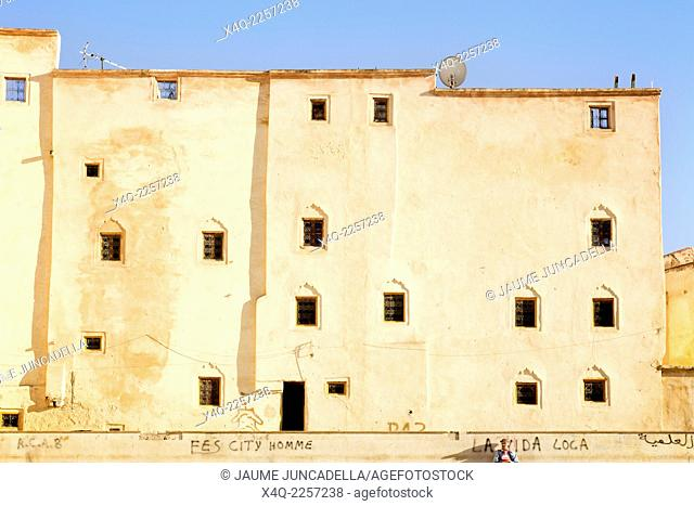 Facade of an old building in Fez