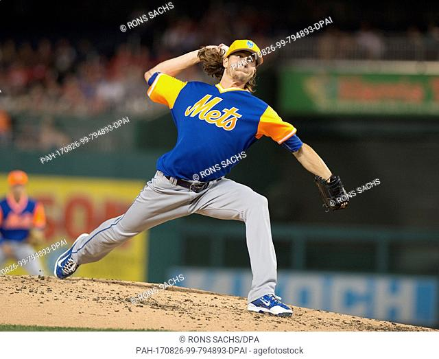 ed684e7f6 New York Mets starting pitcher Jacob deGrom (48) pitches in the second  inning against