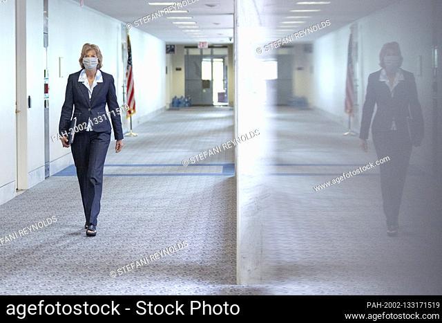 United States Senator Lisa Murkowski (Republican of Alaska) arrives to the GOP policy luncheons on Capitol Hill in Washington D.C., U.S