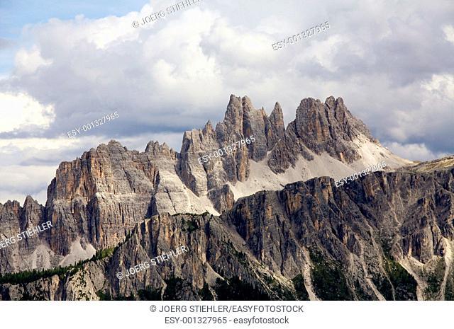 View to Coda de Lago, Dolomite Alps, Italy, Alta Via Dolomiti