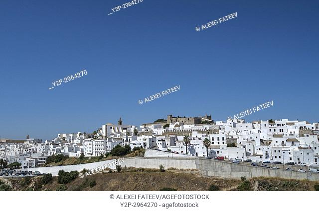 Panoramic view of Vejer de la Frontera, Andalusia, Spain