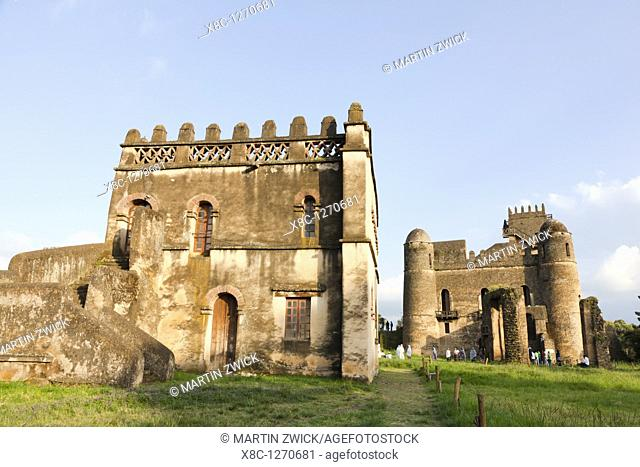 Fasil Ghebbi, fortress like royal enclosure, Gonder, Ethiopia  The palace of Fasiladas on the right, to the left the library of Johannes I  The library was...