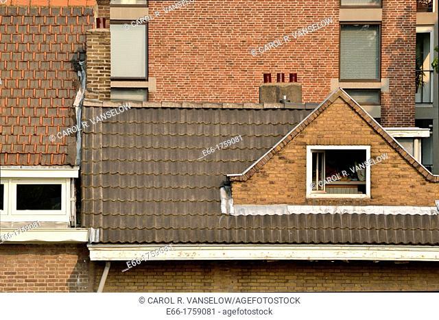 rooftops of some houes in Jekerdaal neighbouhood of Maastricht
