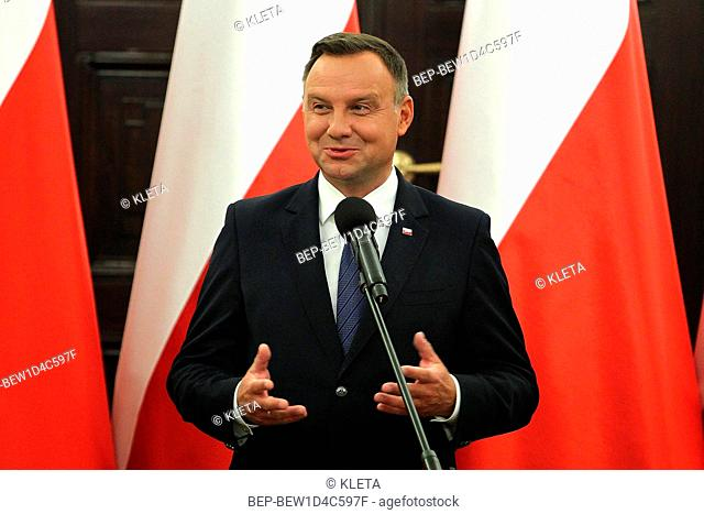 August 16, 2018 Warsaw, Poland. Pictured: President of Poland Andrzej Duda