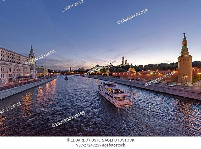 Kremlin view from Moskva river (Moscow, Russia)