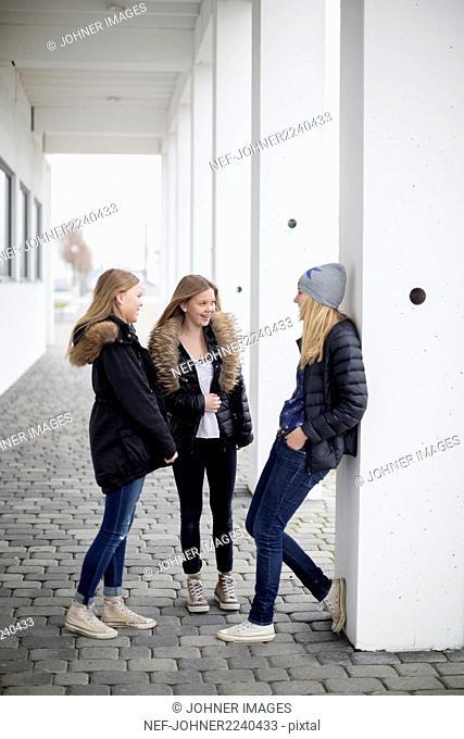 Smiling girls together