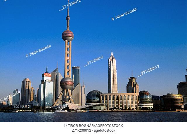 Pudong business district skyline. Shanghai. China