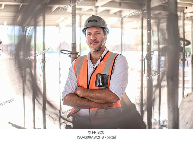 Portrait of site foreman on construction site