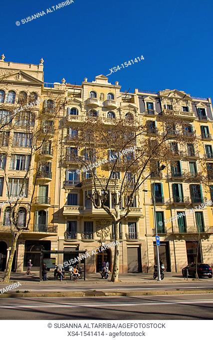 Buildings in Passeig Sant Joan, Barcelona, Spain, Europe