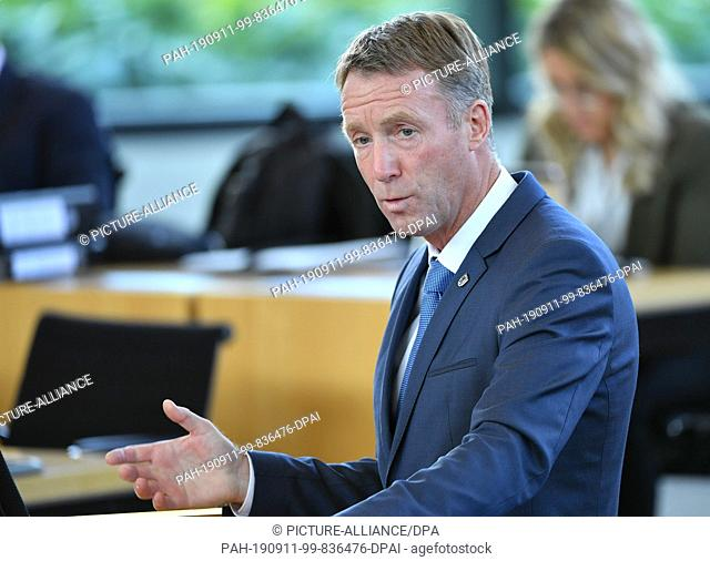 11 September 2019, Thuringia, Erfurt: Raymond Walk, CDU member of parliament in Thuringia, speaks during the session of the Thuringian parliament