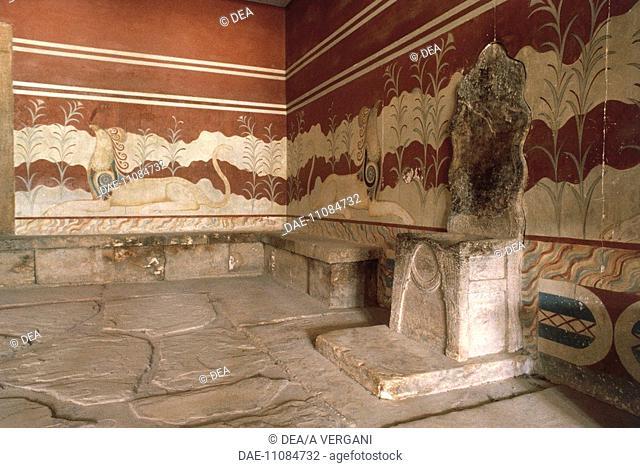 Greece - Crete - Knossos. Palace of Minos. Throne Hall