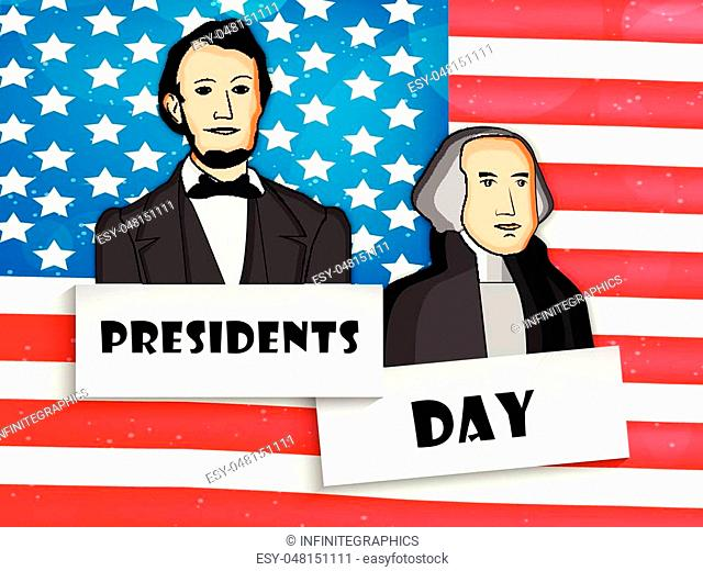 Illustration of U.S.A Flag for Presidents day