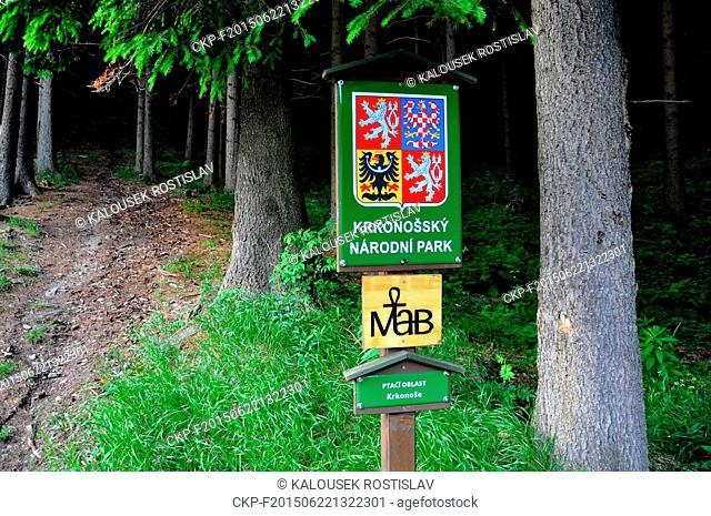 Designation of protected areas in the Krkonose (Giant Mountains) National Park (KRNAP), Czech Republic, June 19, 2015. (CTK Photo/Rostislav Kalousek)