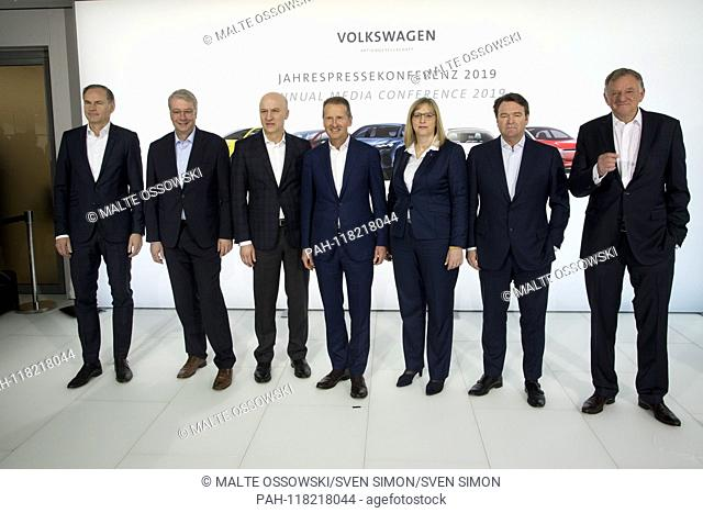 The management of Volkswagen AG, from left: Oliver Blume, Brand Group, AoSport & Luxury, Aò, Dr. Ing. Stefan Sommer, Chief Financial Officer