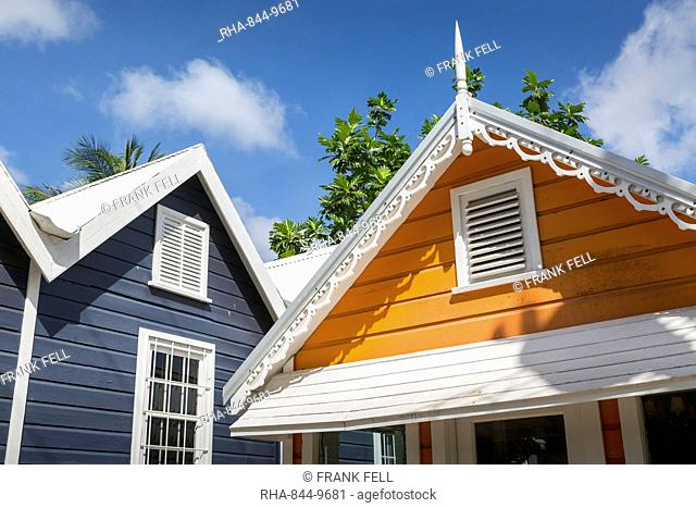 Colourful houses, Holetown, St. James, Barbados, West Indies, Caribbean, Central America