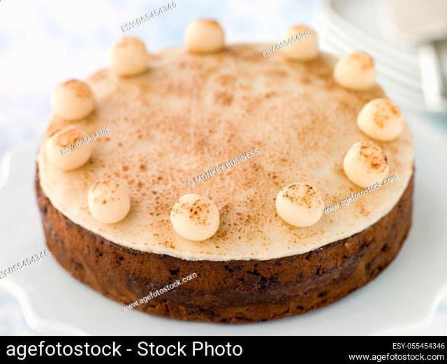 fruit cake, easter cake, simnel cake