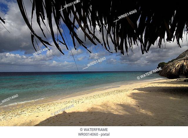 Clouds over Beach, Caribbean Sea, Netherland Antilles, Curacao