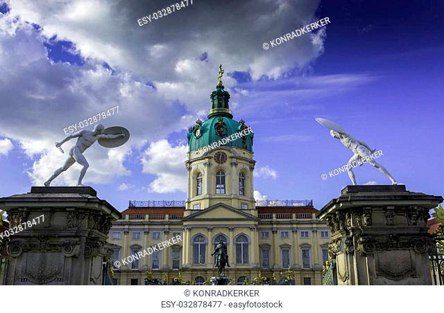Schloss Charlottenburg (Charlottenburg Palace) with garden in Berlin. It is the largest palace and the only surviving royal residence in the city