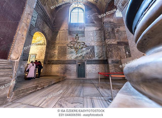 ISTANBUL, TURKEY- MARCH 11: The Hagia Sophia (The Church of the Holy Wisdom or Ayasofya in Turkish) spectacular Byzantine landmark and world wonder in Istanbul