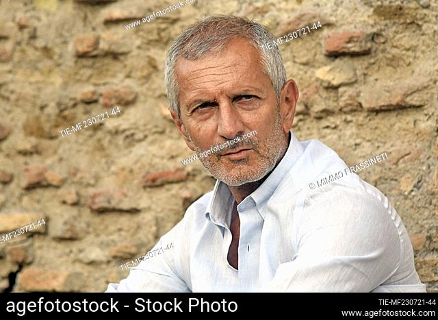 The writer Gianrico Carofiglio at the 20th International Literatures Festival of Rome , Rome, ITALY-23-07-2021