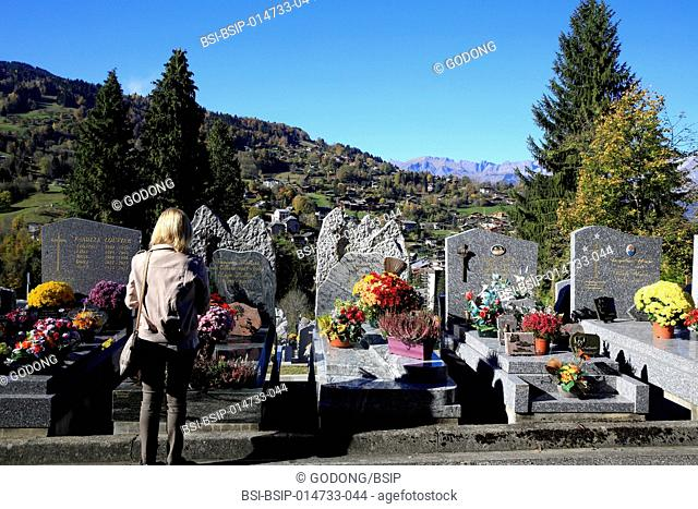 Saint Gervais cemetery. All Saints' day