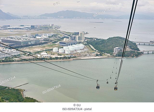 Cable cars, Tsim Sha Tsui, Hong Kong