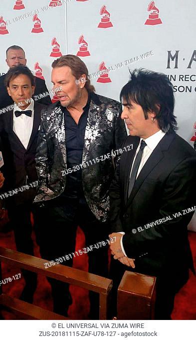 November 15, 2018 - EUM20181115ESP20.JPG.LAS VEGAS, Nevada, EU., MusicMúsica-Grammy.- El grupo de rock pop Maná fue homenajeado la noche de este miércoles por...