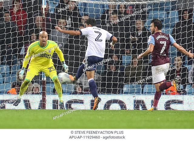 2017 EFL Championship Aston Villa v Middlesbrough Sep 12th. 12th September 2017, Villa Park, Birmingham, England; EFL Championship football