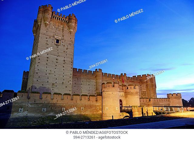 """Castle of """"""""La Mota"""""""" in Medina del Campo, Valladolid, Spain"""