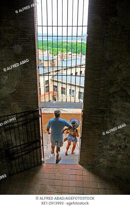 Tower of the rampart, Girona, Catalonia, Spain