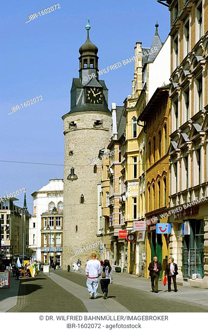 Leipziger Turm tower, Halle, Saxony-Anhalt, Germany, Europe