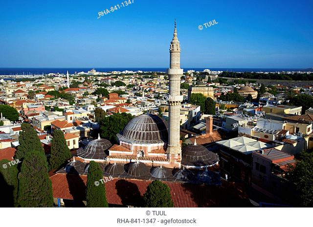 Souleiman Mosque, UNESCO World Heritage Site, Rhodes City, Rhodes, Dodecanese, Greek Islands, Greece, Europe