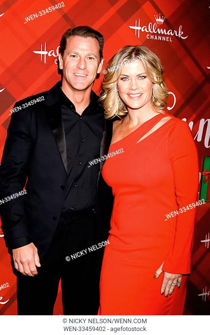 Hallmark's 'Christmas at Holly Lodge' screening at 189 The Grove Drive - Arrivals Featuring: David Snow, Alison Sweeney Where: Los Angeles, California